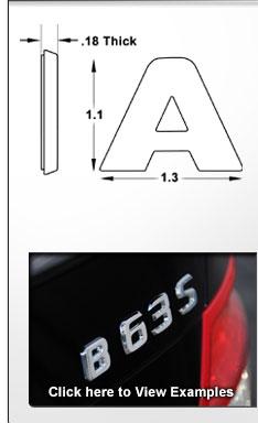 Chrome Letters - OEM Style Automotive 3D Chrome Lettering